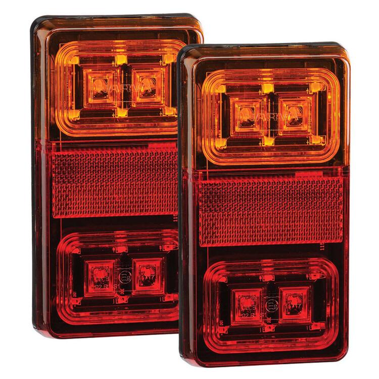 Narva 12V Rectangular LED Slimline Indicator Lamps