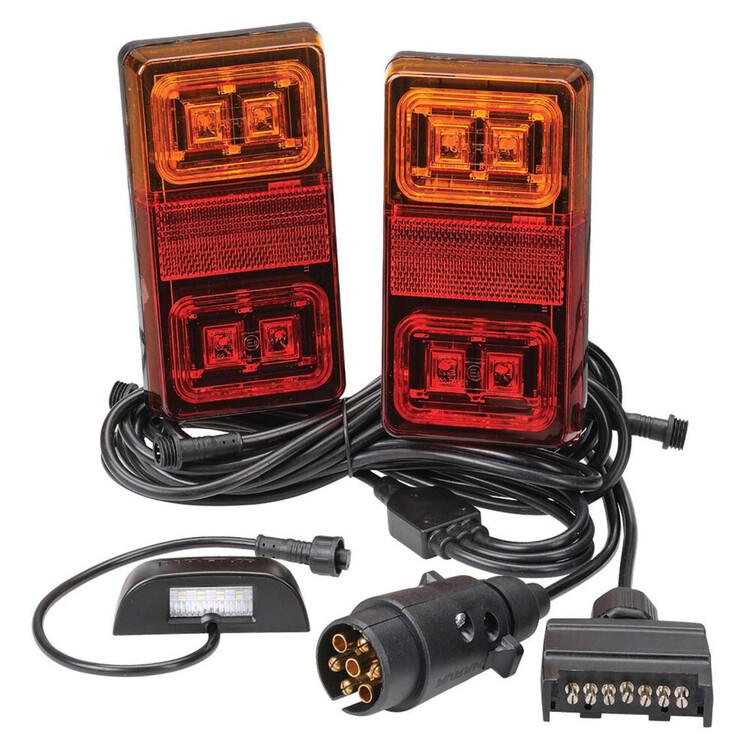 Narva 12V Rectangular Model 35 LED Plug & Play Trailer Lamp Kit