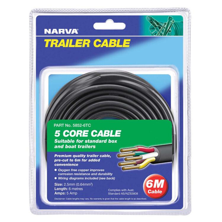 Narva 5A Core Trailer Cable