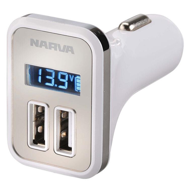 Narva Dual USB Adaptor with LED Display