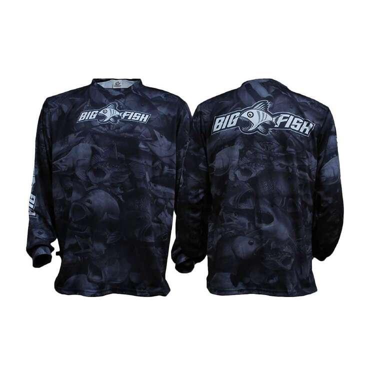 Bigfish Aus Camo Dark Grey Sublimated Fishing Shirt