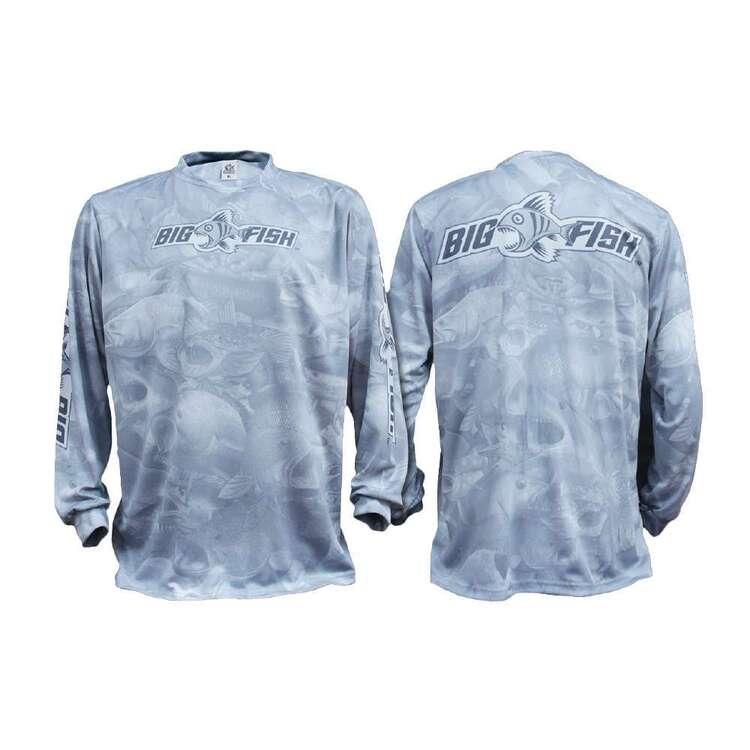 Bigfish Aus Camo Light Grey Sublimated Fishing Shirt