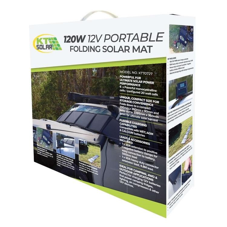 KT Solar 120W Portable Folding Solar Mat