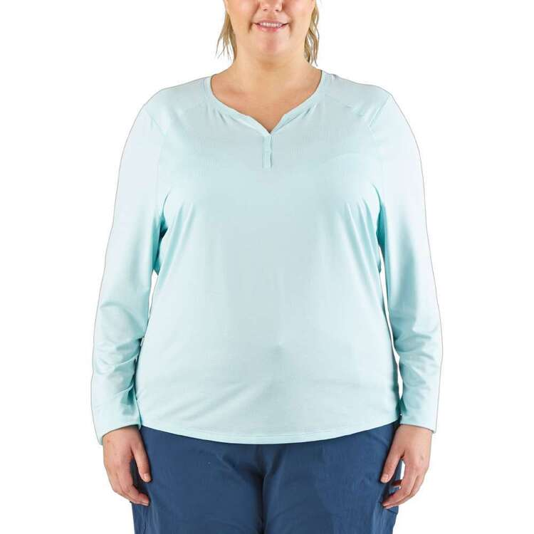 Cape Women's Holly Long Sleeve Henley Top Plus Size