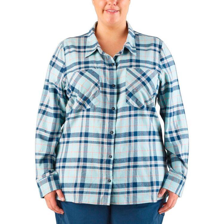 Cape Women's Amie Check Flannel Shirt Plus Size