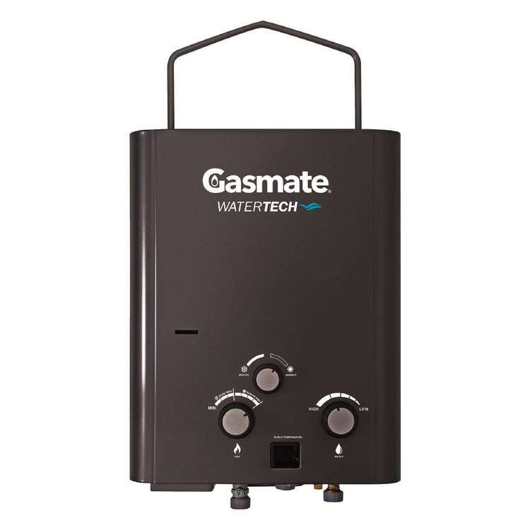 Gasmate WaterTech Hot Water Camp Shower Grey