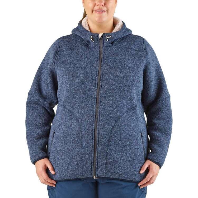 Gondwana Women's Domino Sherpa Lined Fleece Jacket Plus Size