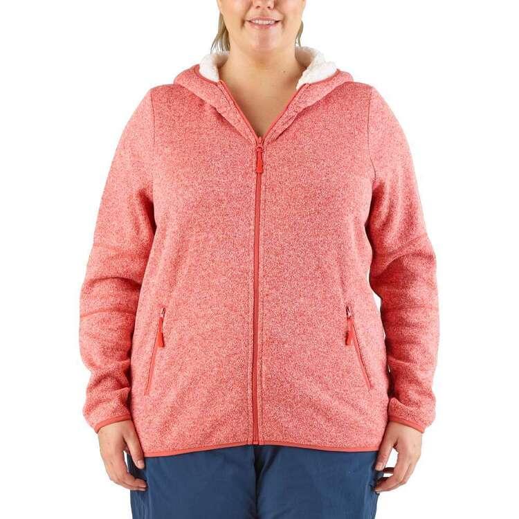 Cape Women's Petunia II Sherpa Lined Full Zip Hoodie Plus Size