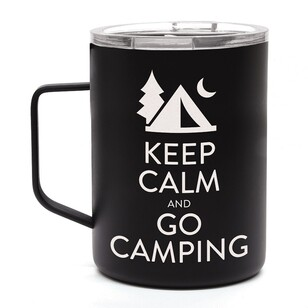 "OZtrail ""Keep Calm"" Double Wall Stainless Steel Mug"