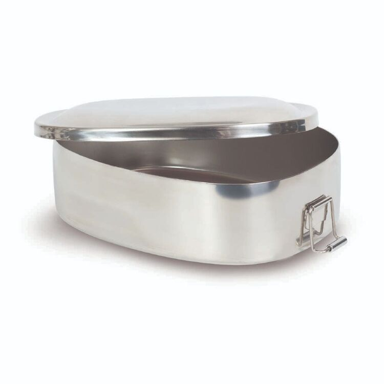 Zebra Stainless Steel Rectangle Lunch Box