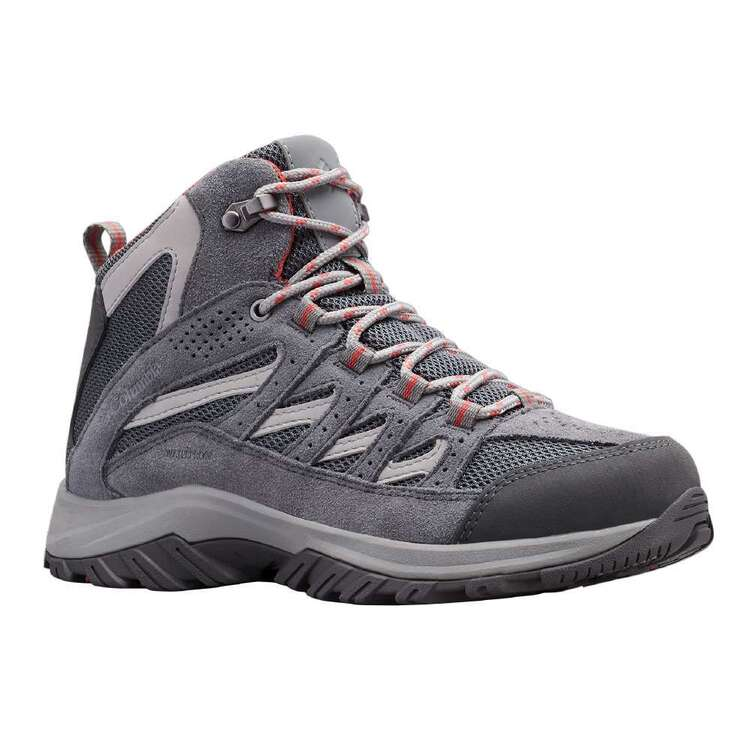 Columbia Women's Crestwood Waterproof Mid Hiking Boots Graphite & Daredevil