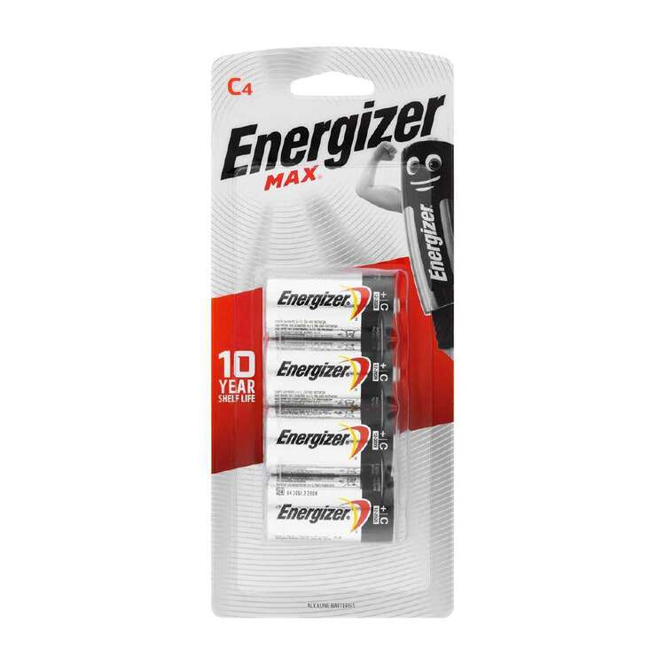 Energizer MAX C Batteries 4 Pack