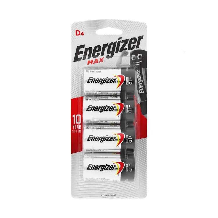 Energizer MAX D Batteries 4 Pack