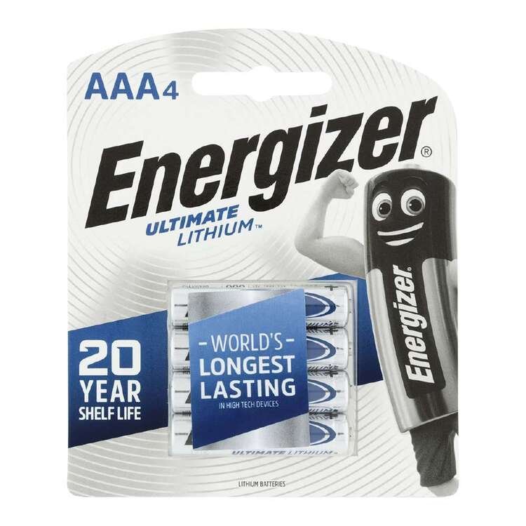 Energizer Ultra Lithium AA Batteries 4 Pack