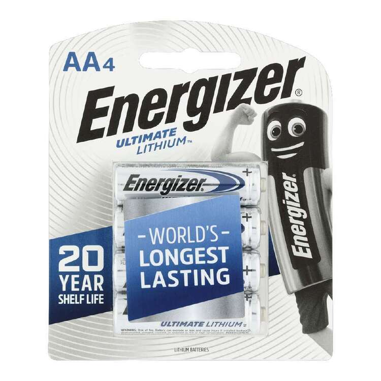 Energizer Ultra Lithium AAA Batteries 4 Pack