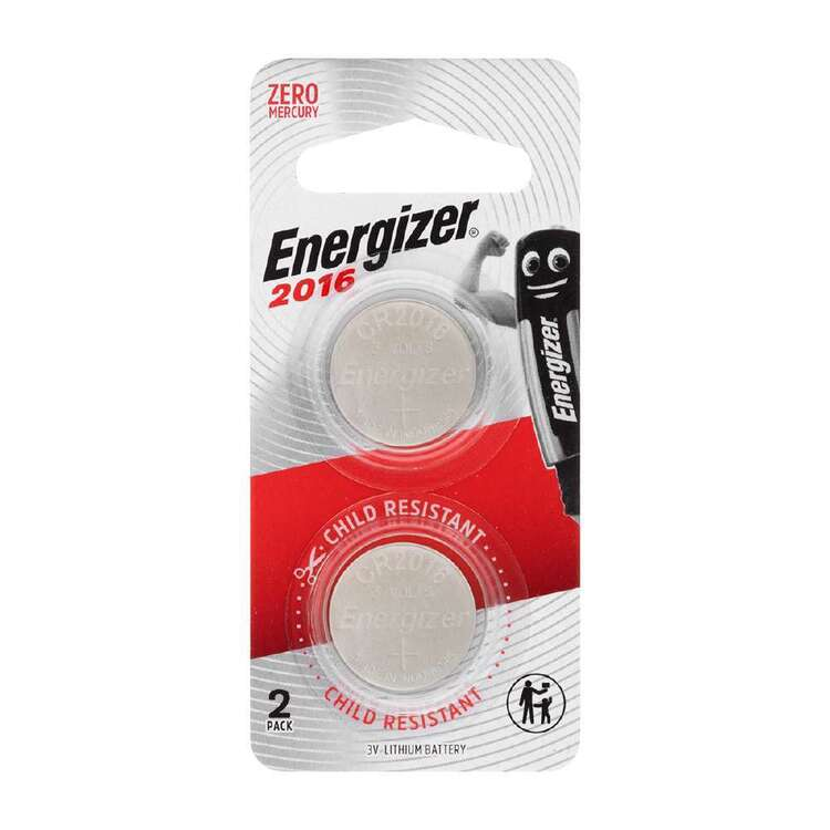 Energizer 2016 Coin Batteries 2 Pack
