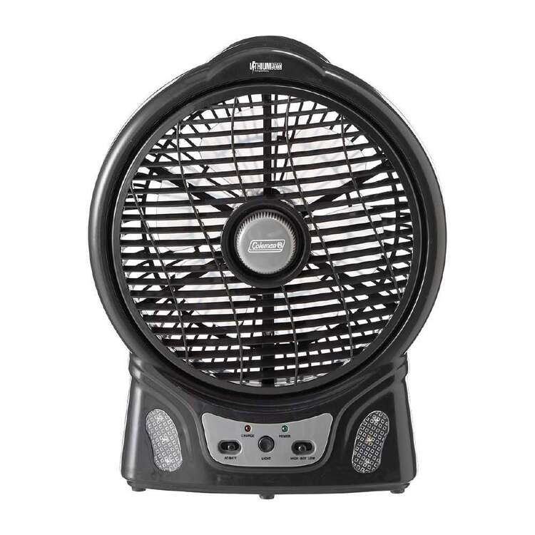 """Coleman Rechargeable Lithium Ion 8"""" Fan with LED Light"""