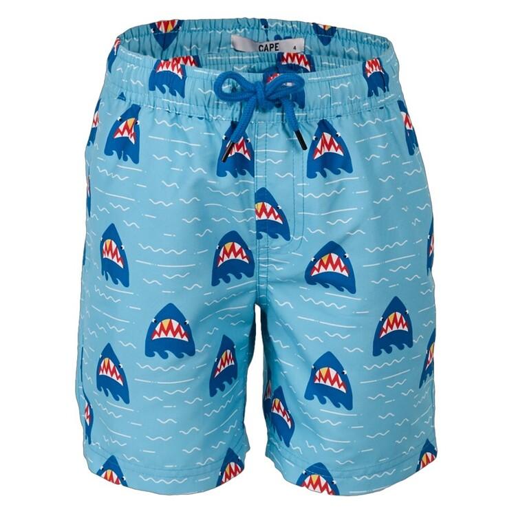 Cape Kids' Angry Shark Shorts