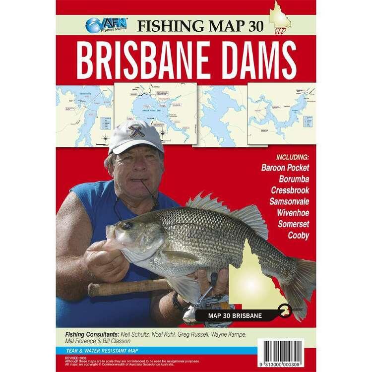 AFN Waterproof Fishing Map #30 Brisbane Dams