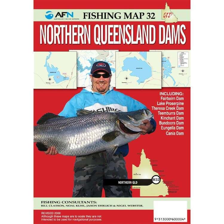 AFN Waterproof Fishing Map #32 North Queensland Dams