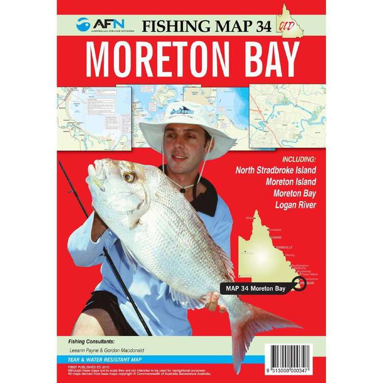 AFN Waterproof Fishing Map #34 Morton Bay