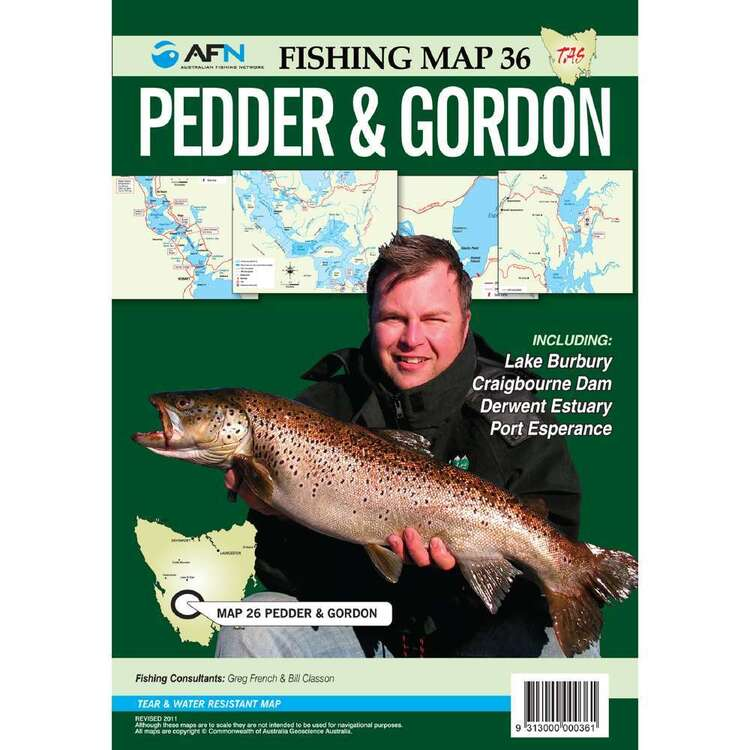 AFN Waterproof Fishing Map #36 Pedder & Gordon