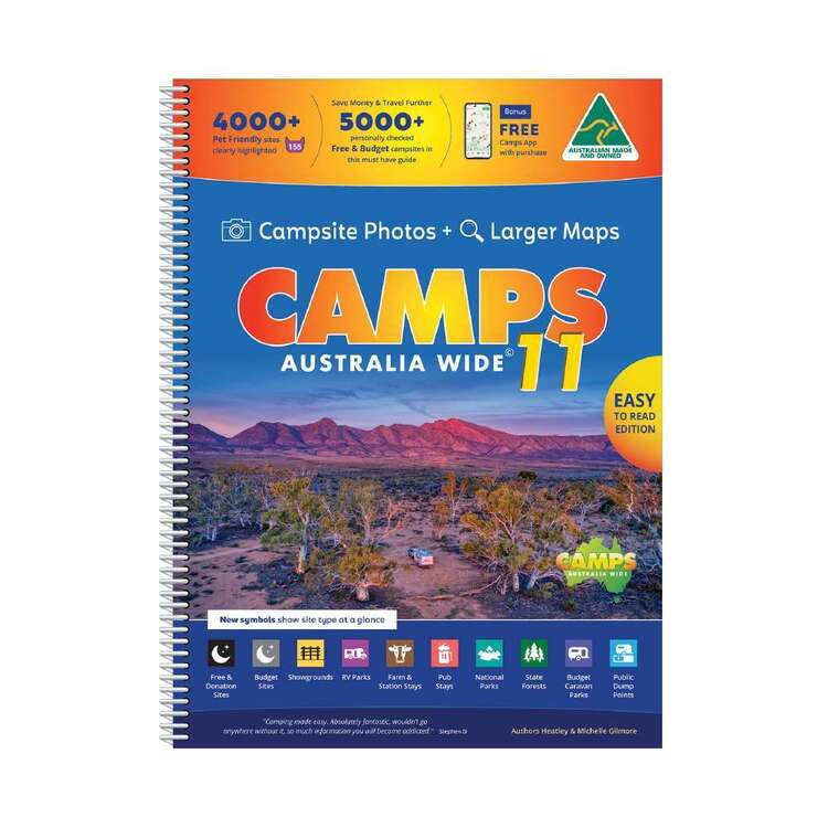Camps Australia Wide 11 B4 Spiral Easy To Read With Photos White