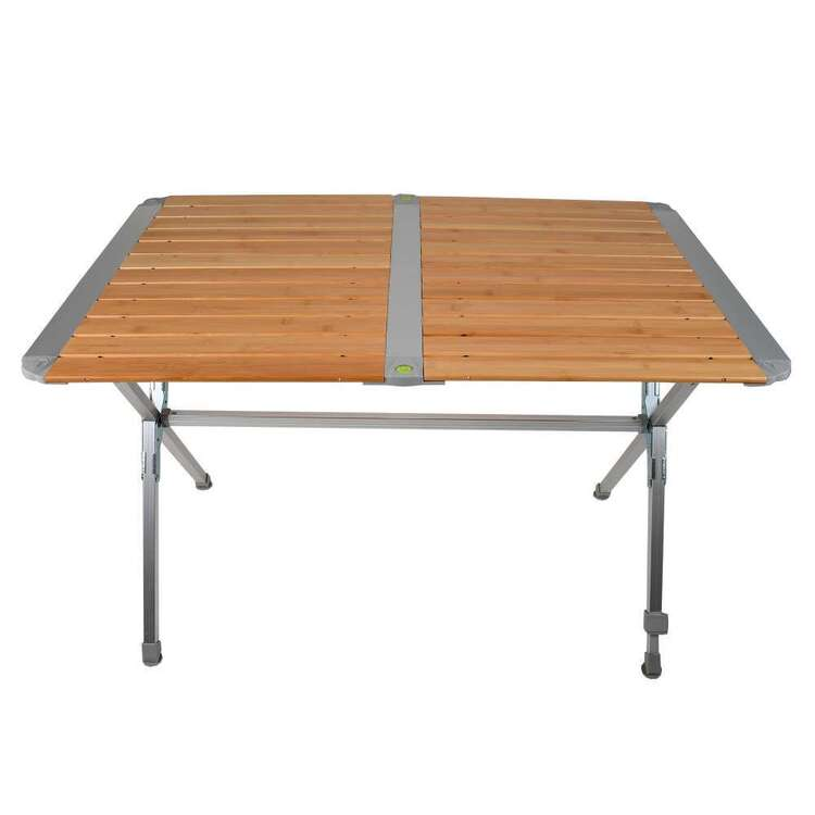 BlackWolf Bamboo Slat Camping Table