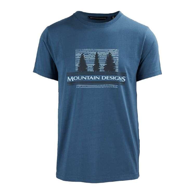 Mountain Designs Men's Heritage Tee Blue