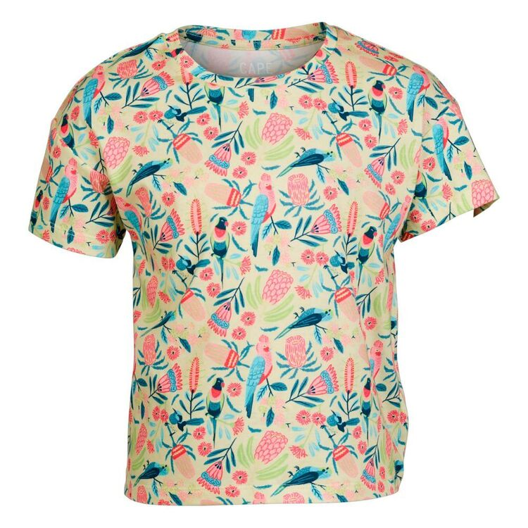 Cape Youth Floral Print Tee