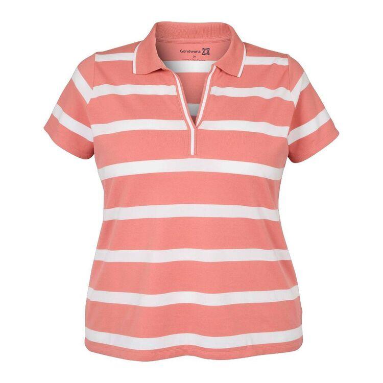 Gondwana Women's Lofty Short Sleeve Polo Shirt Plus Size