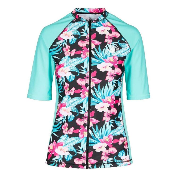 Body Glove Women's Haven Full Zip Short Sleeve Rash Vest