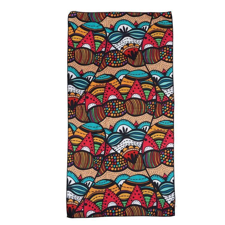 We Love Summer Mosaic Beach Towel
