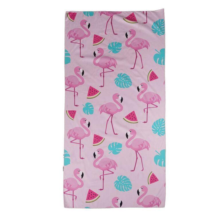 We Love Summer Flamingo Beach Towel