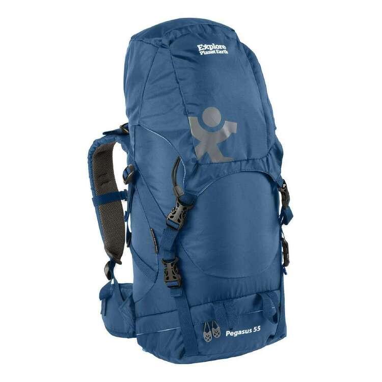 Explore Planet Earth Pegasus 55L Blue Hike Pack