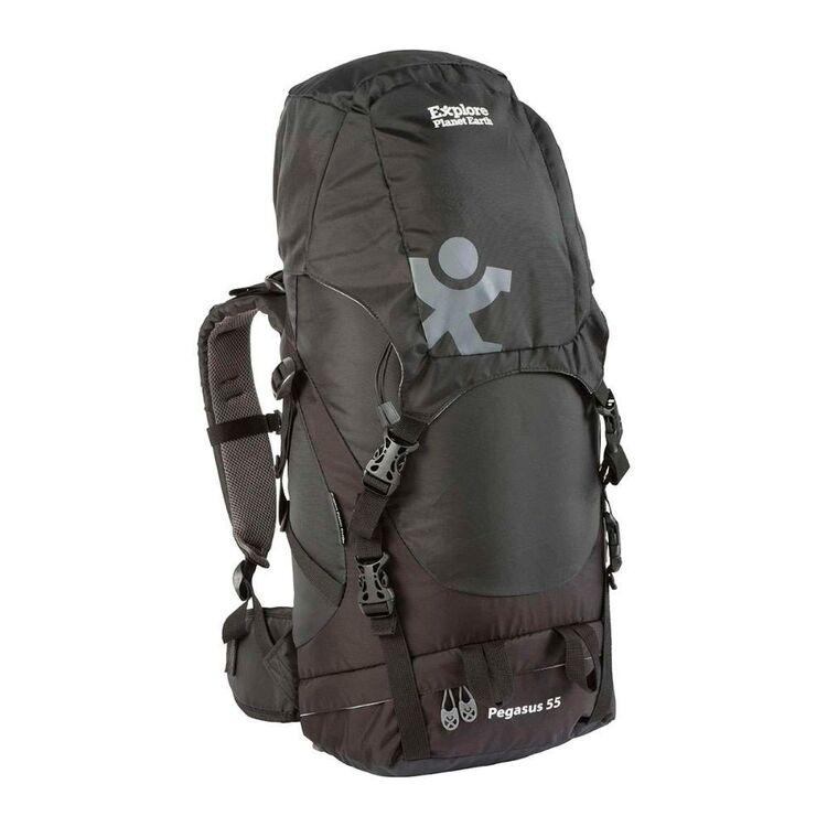 Explore Planet Earth Pegasus 55L Black Hike Pack