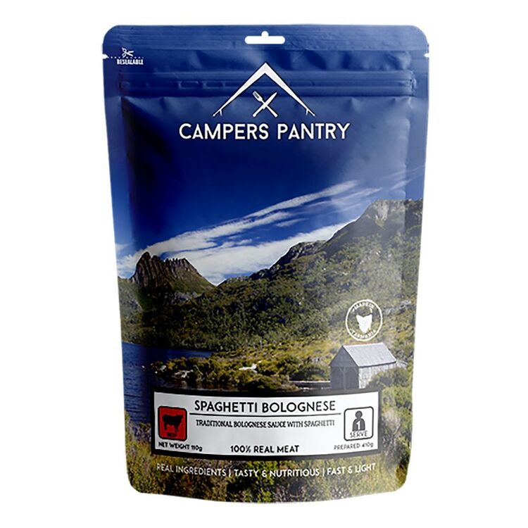 Campers Pantry Spaghetti Bolognese Single Meal