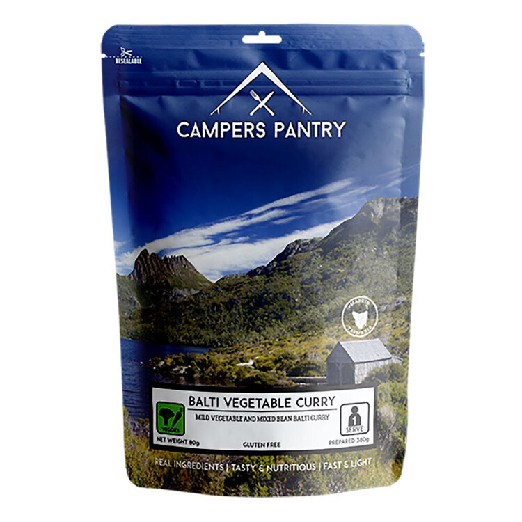 Campers Pantry Balti Vegetable Curry Single Meal