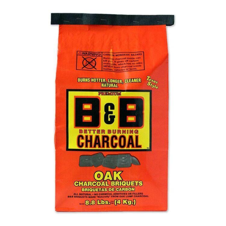 B&B Oak Charcoal Briquets 4kg