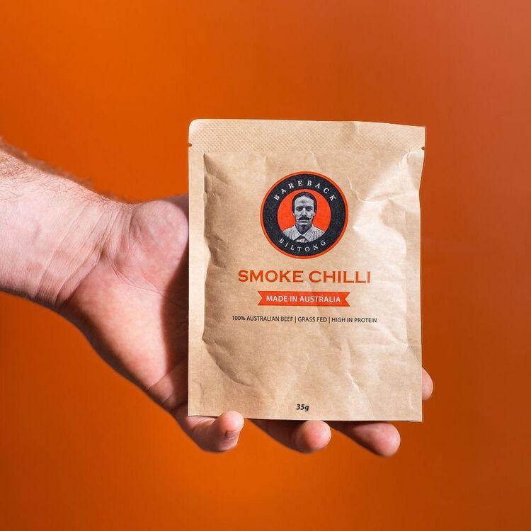 Bareback Biltong Smoke Chilli 35g