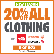 20% Off The North Face, Cederberg & Vigilante Clothing