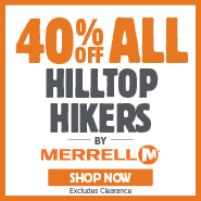 40% Off Merrell Hilltop Hikers
