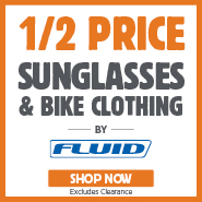 Half Price Fluid Sunglasses & Bike Clothing