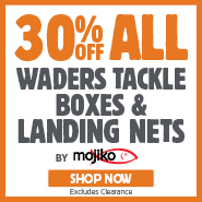 30% Off Mojiko Waders, Tackle Boxes & Landing Nets