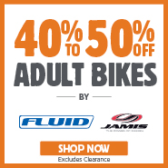 VIP Club Exclusive 40-50% Off Fluid & Jamis Adult Bikes