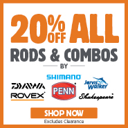 20% Off Rods & Combos