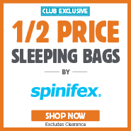 VIP Club Exclusive Half Price Spinifex Sleeping Bags