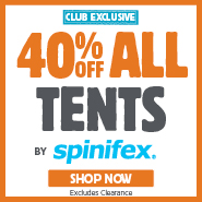 VIP Club Exclusive 40% Off Spinifex Tents