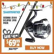 Save $42.99 On Shimano Siennna 2500 Eclipse Spin Pack