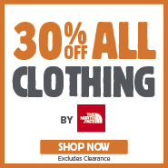 30% Off All The North Face Clothing